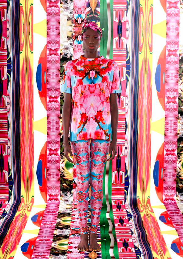 Helen Steele, fashion designer, SS12, print