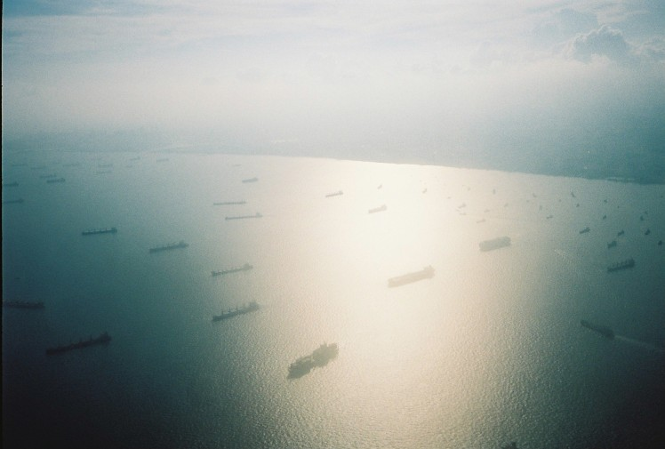 boats, the gulf, photos from a plane, 35mm, olympus