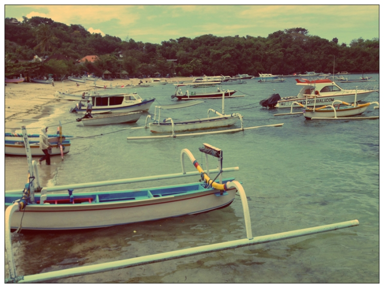 Padangbai Harbour, Bali, boats, iphone photo