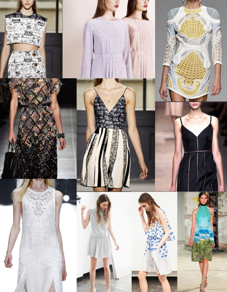 dresses, spring summer 2013, ss13, fashion, style, roberto cavalli, proenza schouler, balenciaga, valentino, balmain, apc, style.com