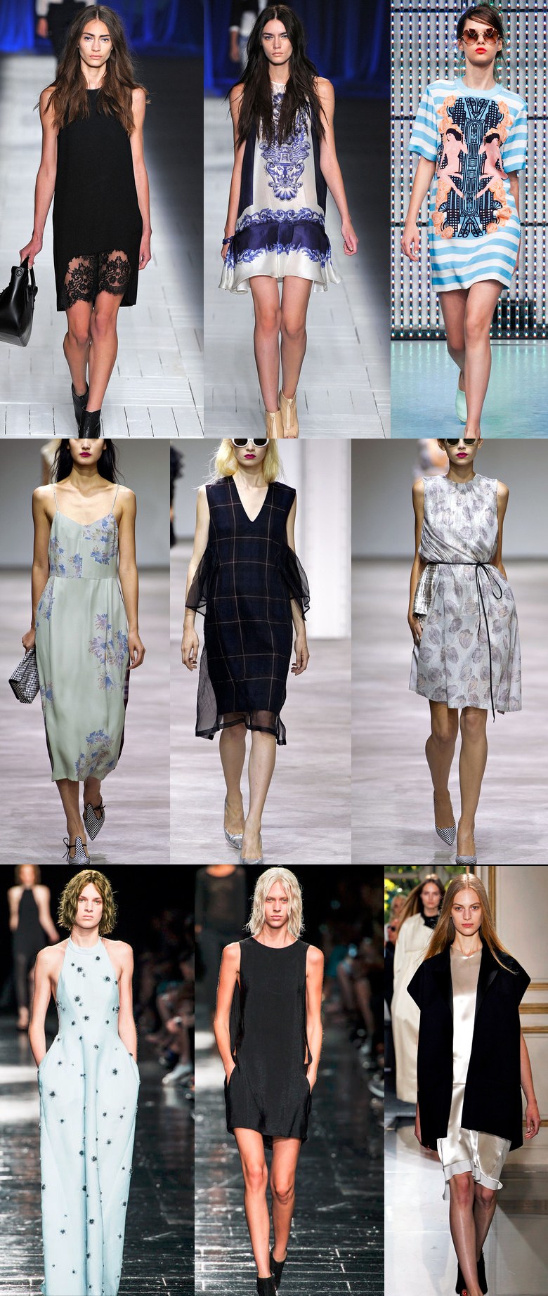 dresses, fashion, style, spring summer 2013, ss13, dries van noten, roberto cavalli, just cavalli, holly fulton, celine, theysken's theory