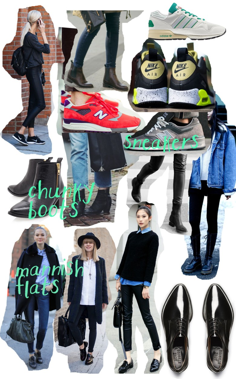 shoes, kicks, sneakers, trainers, nike, new balance, oxford shoes, brogues, chelsea boots, acne, topshop