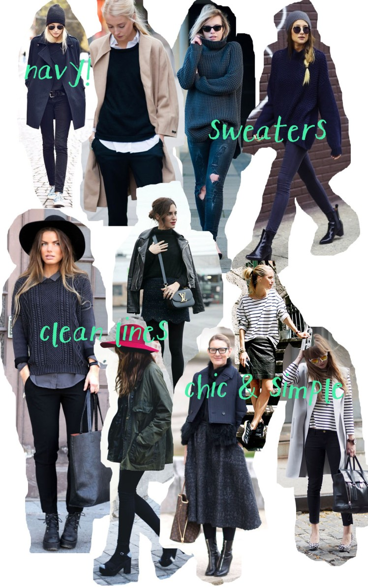navy, sweaters, chic, simple, clean lines, moodboard, minimal dressing, inspiration