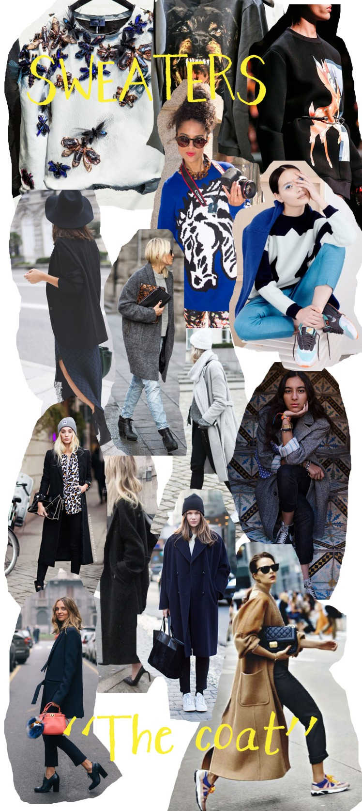 coats, street style, sweaters, minimal dressing, casual, chic, clothes, fashion, outerwear, collage, moodboard, inspiration, lanvin, givenchy
