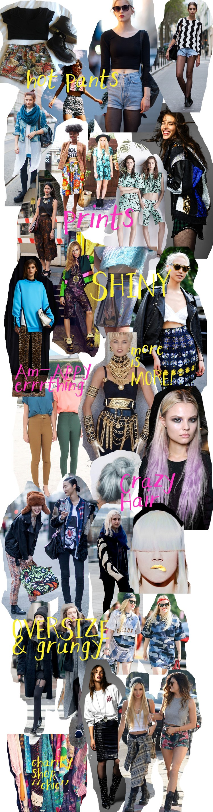 denim cutoffs, dip dye hair, american apparel, leopard print, print, fashion, versace, chains, grunge, oversize,