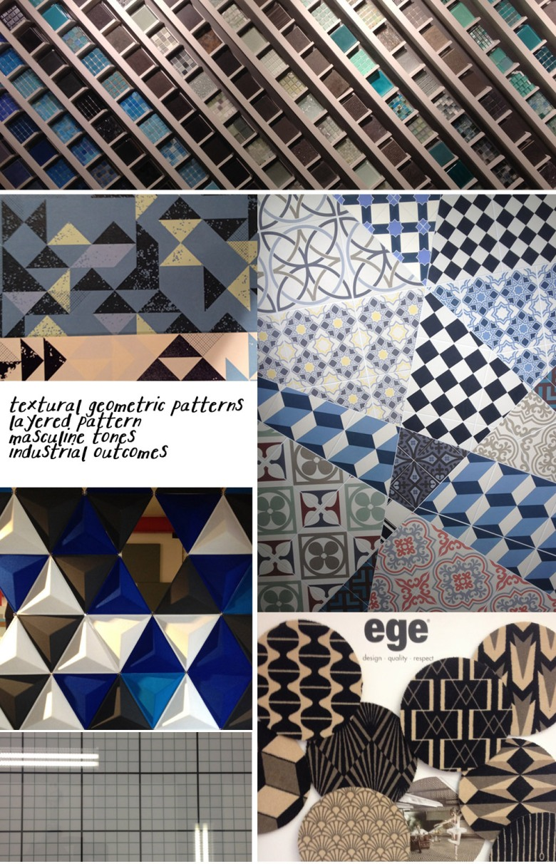 clerkenwell design week 2014, geometric patter, tile, design, surface design, lighting, foscarini, floor tiles, wall tiles